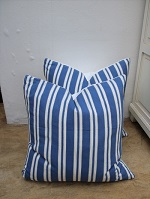 New blue stripe cushions
