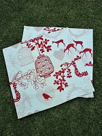 2 new pink deer cushion covers