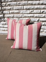 Pink stripe cushions
