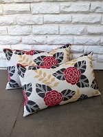 Oblong floral outdoor cushions