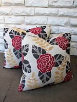 Square floral outdoor fabric cushions