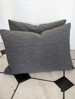 Grey Quilted cushions