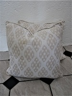 Pair of Cream and beige cushions