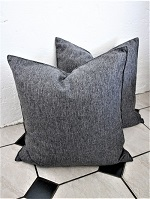 Pair of Charcoal textured new cushions